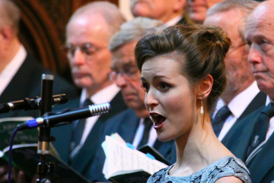 Guest soprano Milly Morrest at Hart MVC Charity Concert 2015